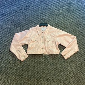Cute blush faux jacket.